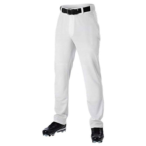Adult Open Bottom & Belt Loop Pant, White, swatch