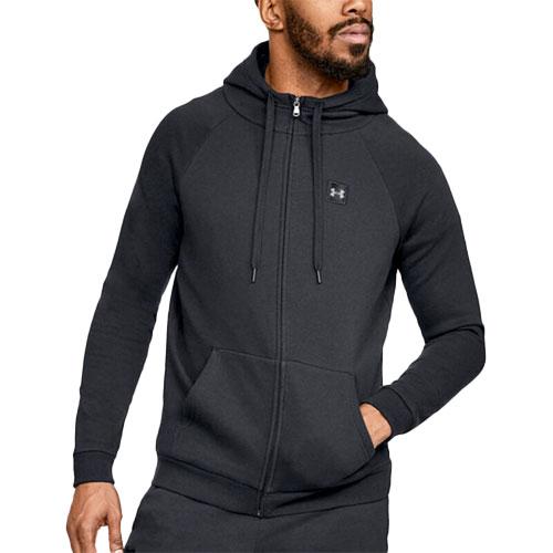 Men's Rival Fleece Full-Zip Hoodie, Black, swatch