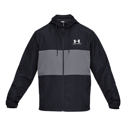 Men's Sportstyle Wind Jacket, Black/White, swatch