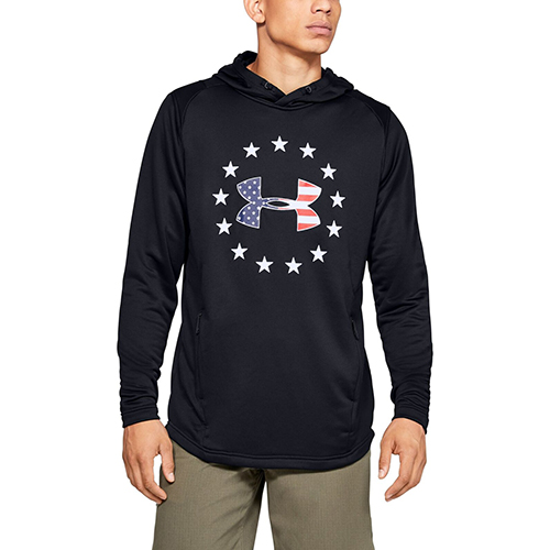 Men's Tech Terry Freedom Hoodie, Black, swatch