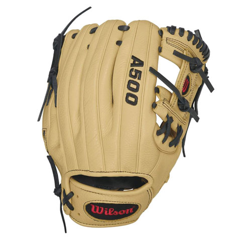 "Adult 11"" A500 Series Baseball Glove, Black, swatch"