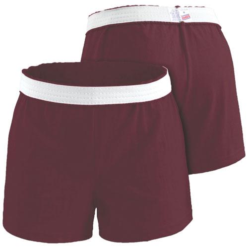 Women's Cheer Shorts, Maroon, swatch