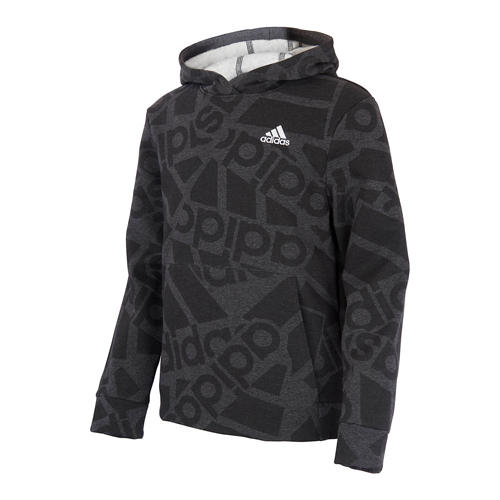 Boys' Badge of Sport Collage Hoodie, Gray, swatch