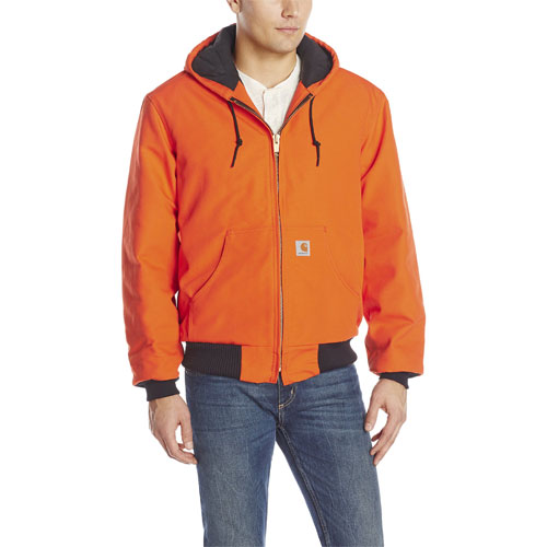 Men's Quilt Lined Active Jacket, Orange, swatch