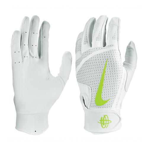 Men's Huarache Edge Batting Gloves, White/Yellow, swatch