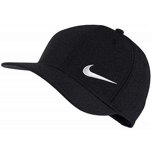 Classic 99 Adjustable Golf Hat, Black/White, swatch