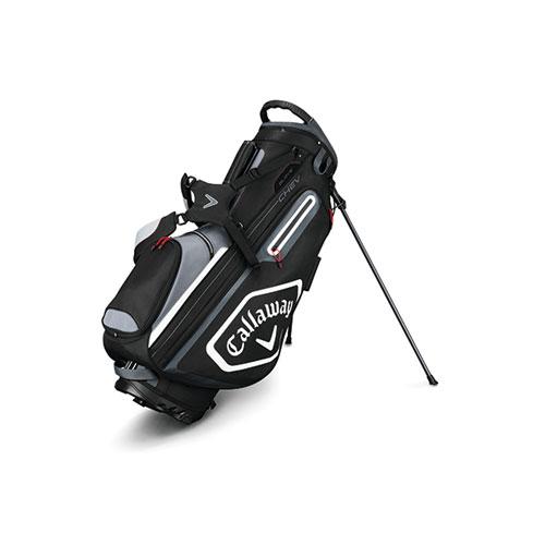 Chev Stand Golf Bag, Black/Gray, swatch