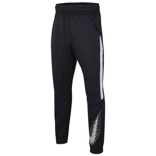 Boy's Dri-fit Tapered Therma Fleece Pant, Black, swatch