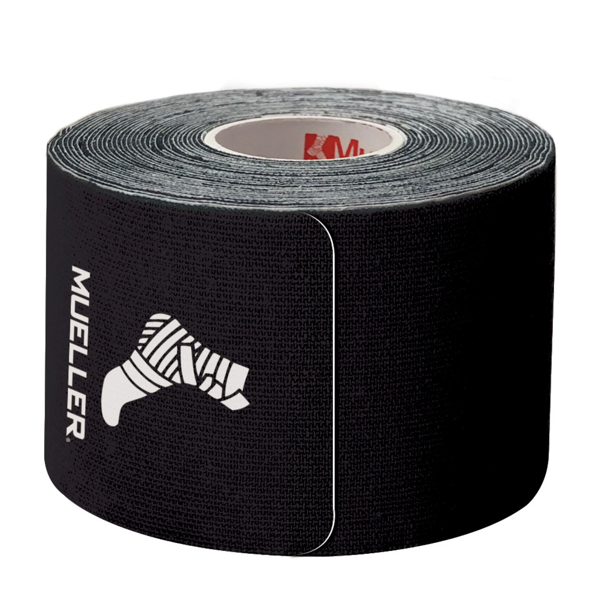 Kinesiology Tape Pre-Cut I-Strips, Black, swatch