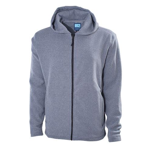 Men's Hooded Fleece Jacket, Heather Gray, swatch