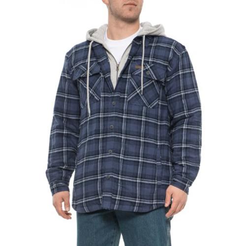 Fleece Lined Flannel Shirt Jacket, Blue, swatch