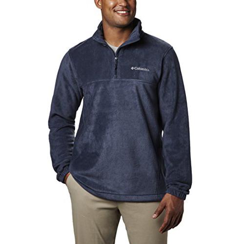 Mens Steens Mountain Half Zip Soft Fleece Jacket, Navy, swatch