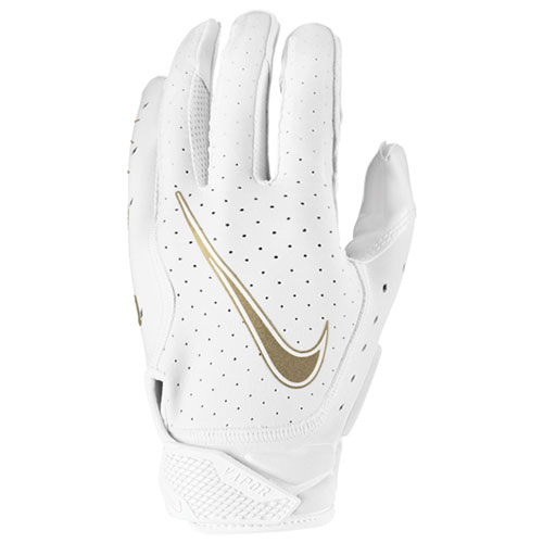 Youth Vapor Jet 6.0 Football Gloves, White/Gold, swatch