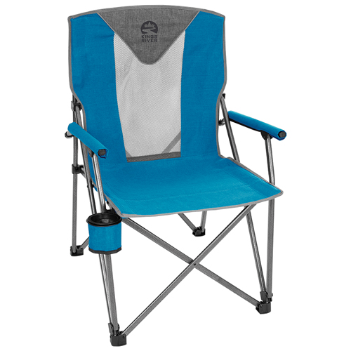 Deluxe Hard Arm Chair, Blue, swatch