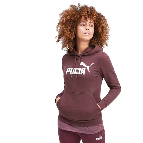 Women's Essentials Fleece Hoodie, Dk Red,Wine,Ruby,Burgandy, swatch