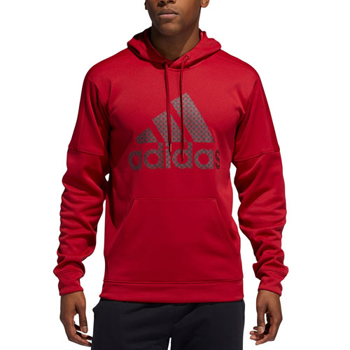Men's Team Issue Fleece Logo Hoodie, Dk Red,Wine,Ruby,Burgandy, swatch