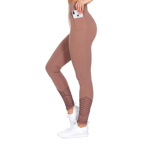 Women's Cross Mesh Bottom Legging, Flesh,Nude,Putty, swatch