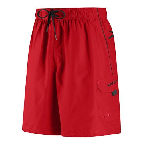 Men's Marina Volley Swimshort, Red/Black, swatch