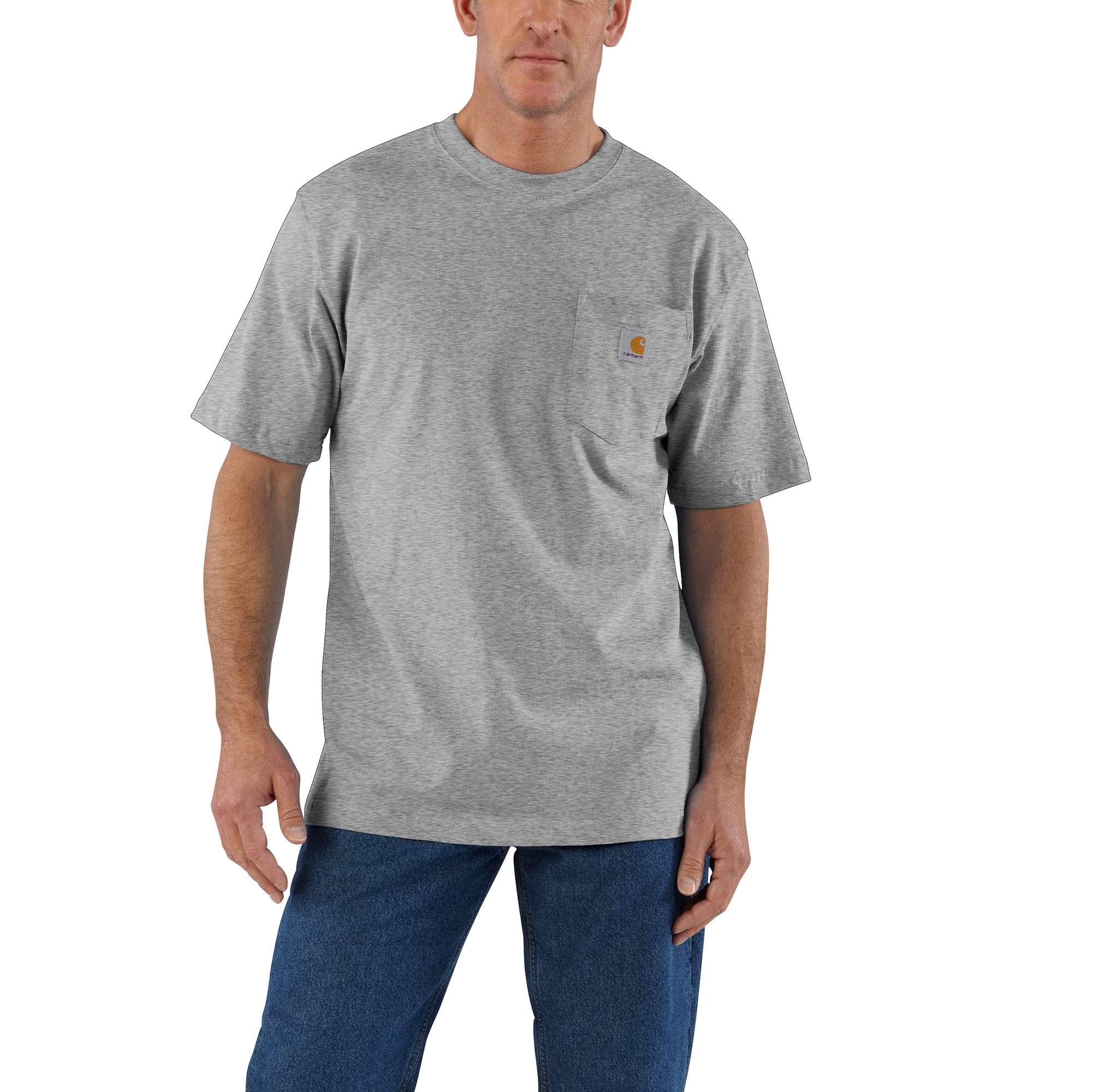 Men's Big & Tall Workwear Pocket T-Shirt, Granite, swatch