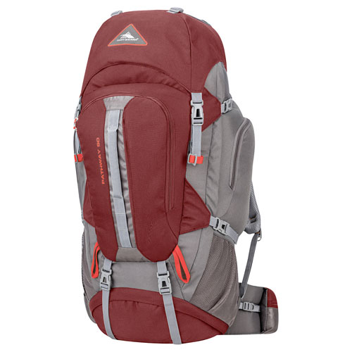 Pathway 90L Hiking Pack, Red/Gray, swatch