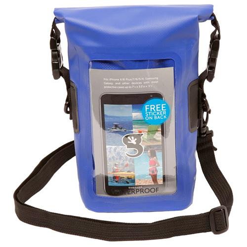 Waterproof Phone Tote, Blue, swatch