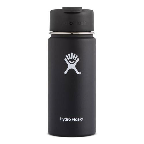 16oz Wide Mouth With Flex Sip Lid, Black, swatch