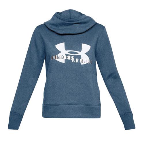 Womens Sportstyle Logo Hoodie, Blue, swatch