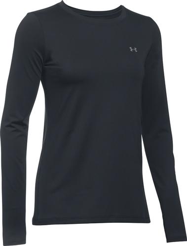 Women's Long Sleeve HeatGear Top, Black, swatch