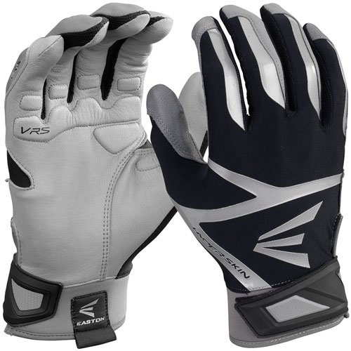 Men's Z7 VRS Hyperskin Batting Gloves, Gray/Black, swatch