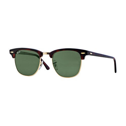 Clubmaster Classic Sunglasses, Black/Green, swatch