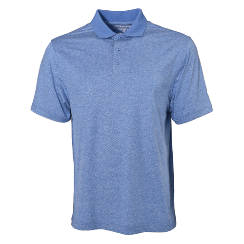 Men's Dimple UPF Short Sleeve Polo Shirt, Blue, swatch