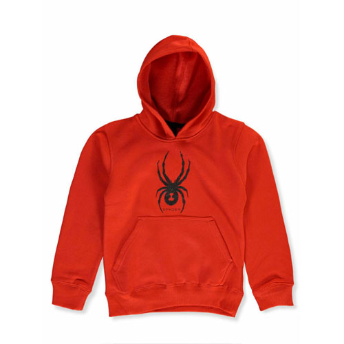 Boy's Big Logo Hoody Size 8-20, Red, swatch