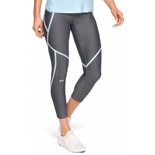Women's HeatGear Armour Edgelit Ankle Crop, Charcoal,Smoke,Steel, swatch