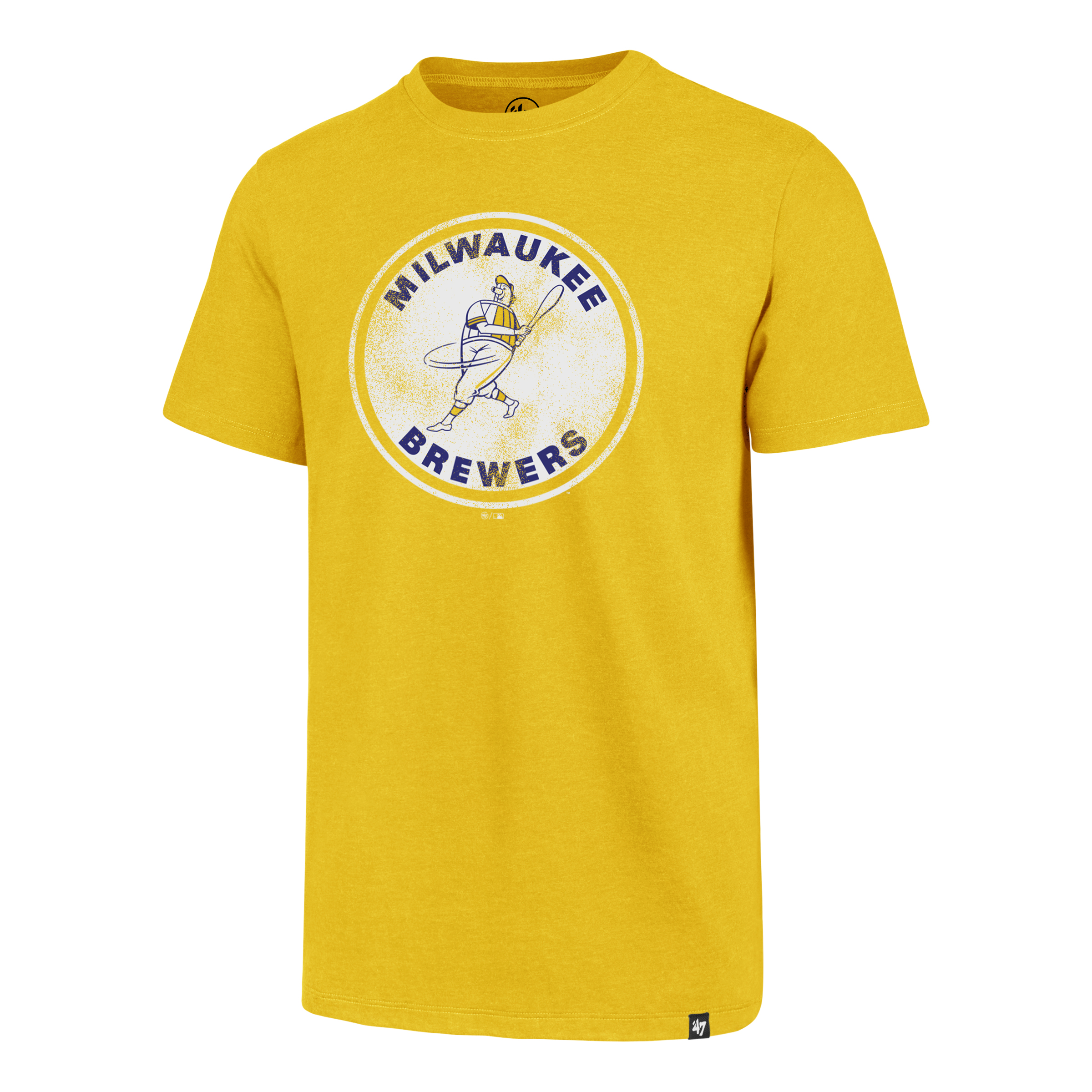 Brewers Throwback Clb Tee, Gold, Yellow, swatch