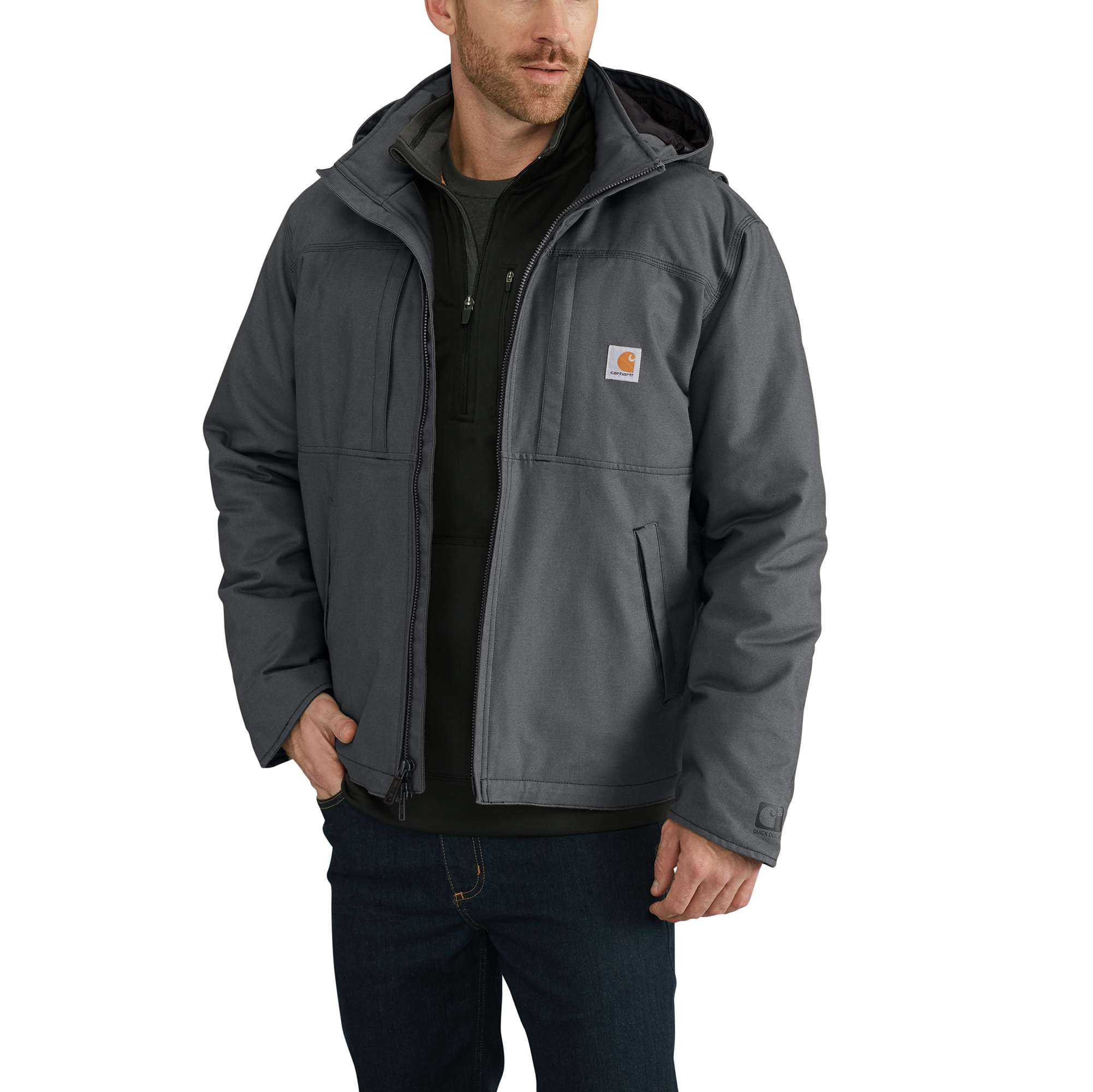 Men's Full Swing Armstrong Active Jacket, Gray, swatch