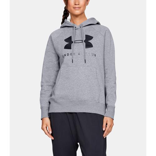 Women's Rival Fleece Sportstyle Graphic Hoodie, Gray, swatch