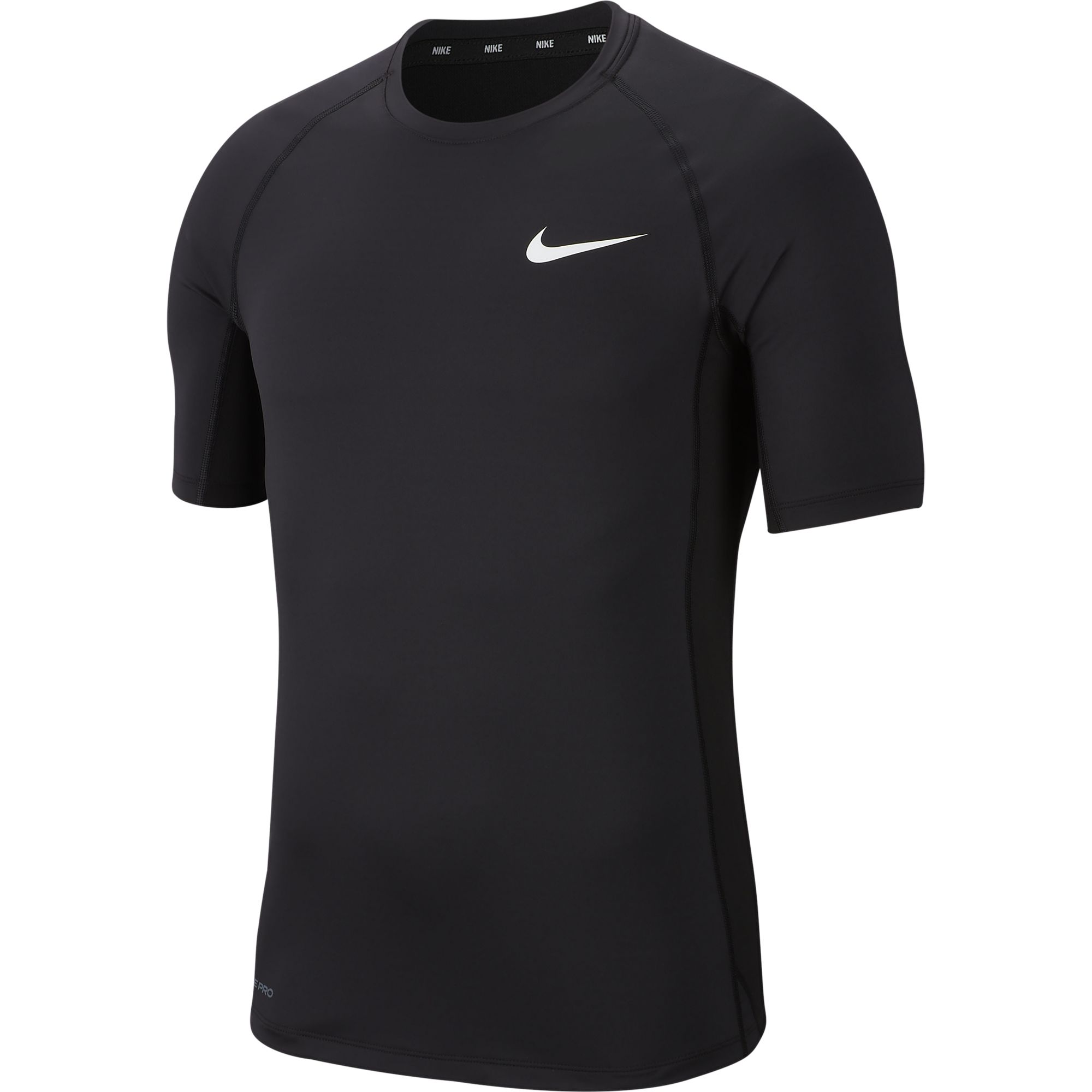 Men's Pro Short-Sleeve Top, Black, swatch