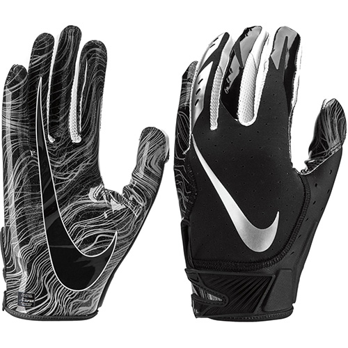 Youth Vapor Jet 5.0 Football Gloves, Black, swatch
