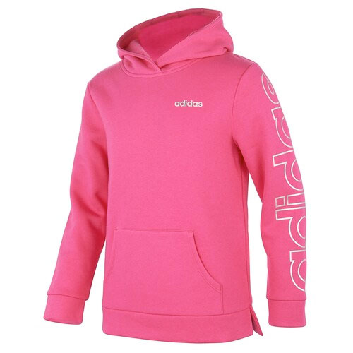 Girls' Event Linear Pullover Hoodie, Hot Pink,Fuscia,Magenta, swatch