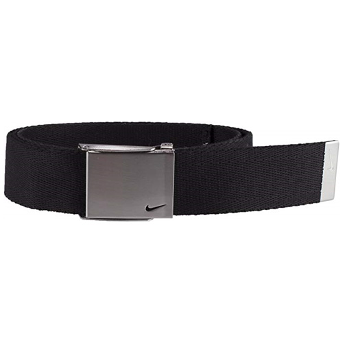 Men's Swoosh Web Golf Belt, Black, swatch