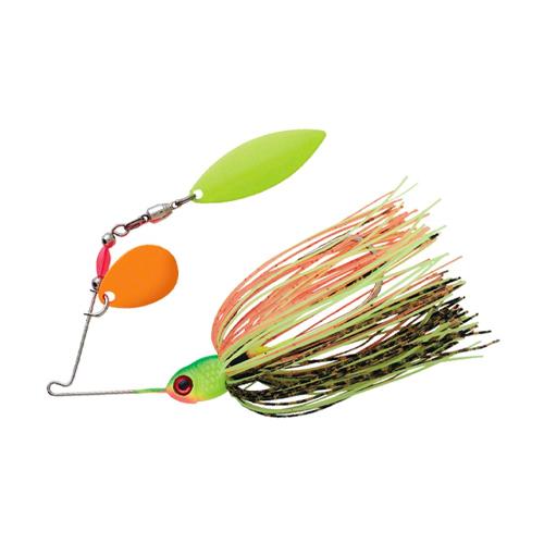 Pradco Lures Pond Magic Spinnerbait, Orange/Green, swatch