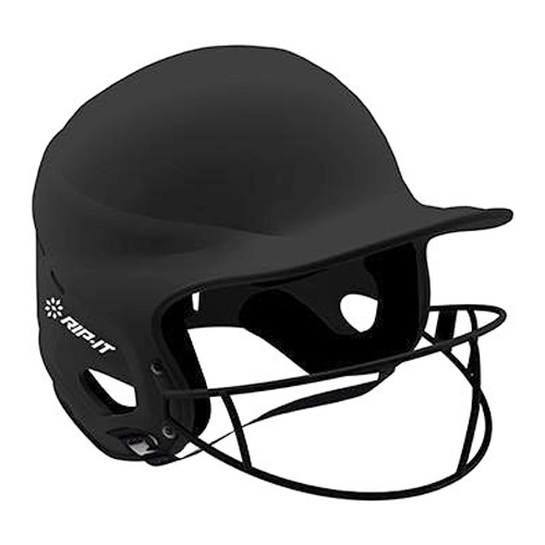 Vision Matte Softball Helmet With Mask, Black, swatch