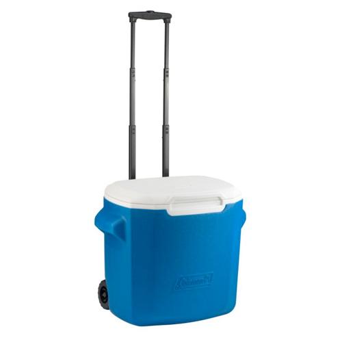 28-Quart Wheeled Cooler, Blue, swatch