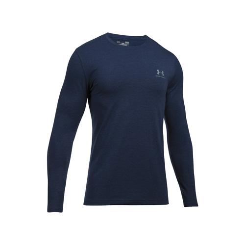 Men's Long Sleeve Left Chest Logo T-Shirt, Navy, swatch