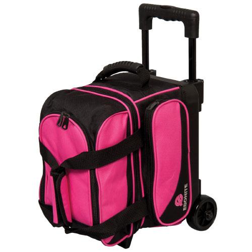 Transport Single Roller Bowling Bag, Black/Pink, swatch