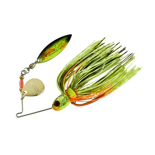 Pond Magic Real Craw Sunrise Spinbait, Gold, Yellow, swatch