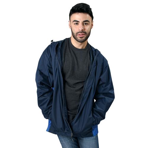 Men's Lightweight Rain Jacket, Navy, swatch