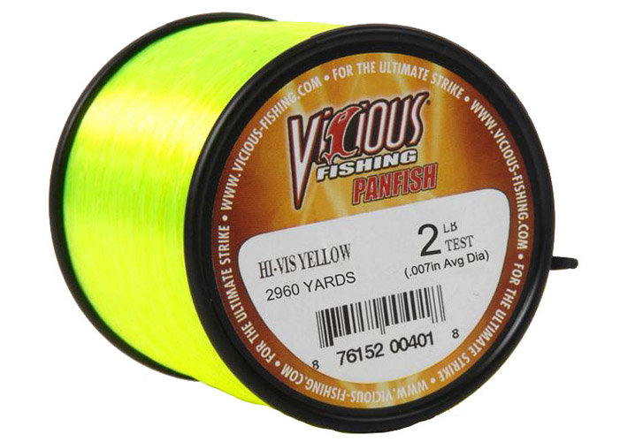 Panfish Line- Clear 1/4LB Spool, Gold, Yellow, swatch