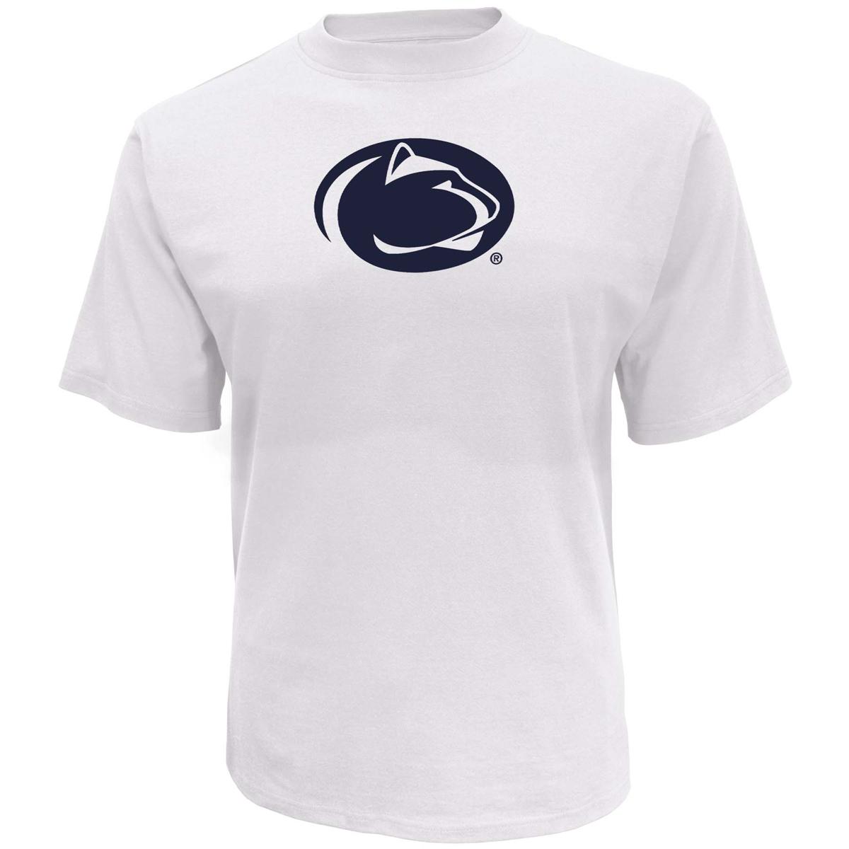 Men's Penn State Oversized Logo Short Sleeve T-Shirt, White, swatch