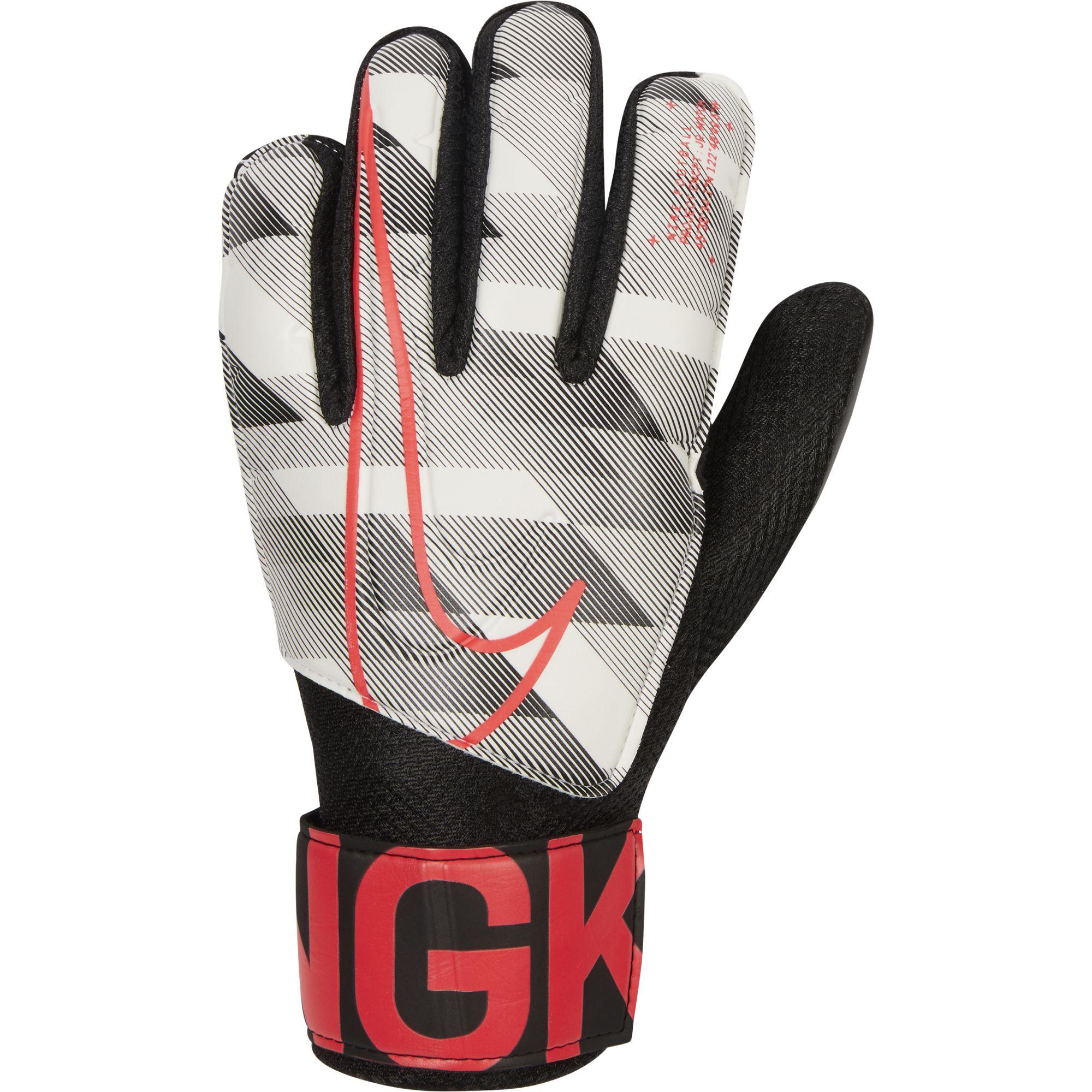Goalkeeper Junior Match Goalie Glove, White/Black, swatch